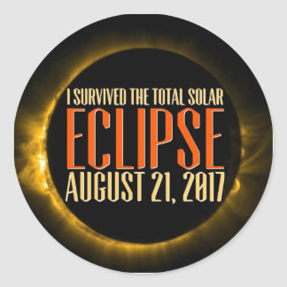 Will you witness the eclipse in it's totality? classic round sticker