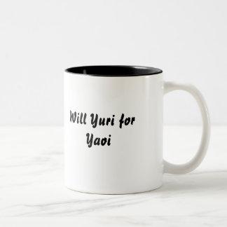Will Yuri for Yaoi Two-Tone Coffee Mug