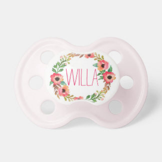 """Willa"" Simple & Elegant Personalized Name Baby Pacifier"