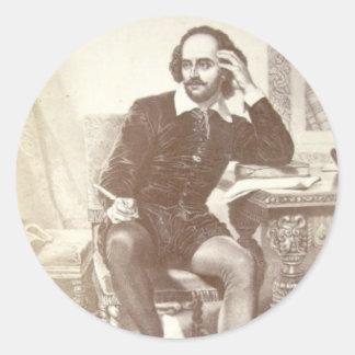 Willaim Shakespeare Classic Round Sticker