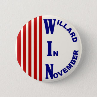 Willard In November Red, white & blue version 2 Inch Round Button