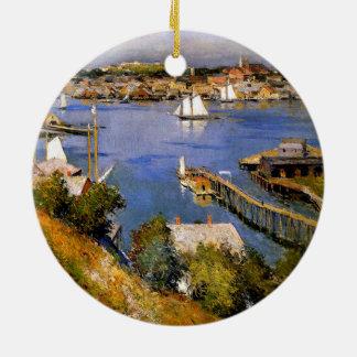 Willard Metcalf  Gloucester Harbor Ceramic Ornament