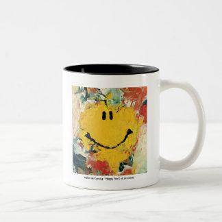 Willem de Kooning happy face mug