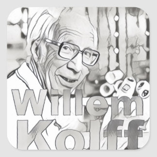 Willem Kolff Square Sticker