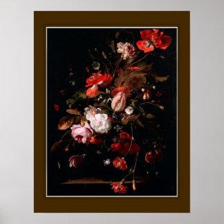 Willem van Aelst,'Flowers ' Poster