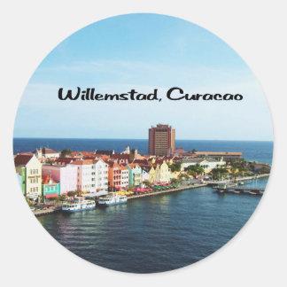 Willemstad Curacao Classic Round Sticker