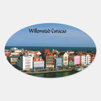 Willemstad Curacao Oval Sticker