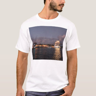 Willemstad Curacao - Queen Juliana Bridge at Night T-Shirt