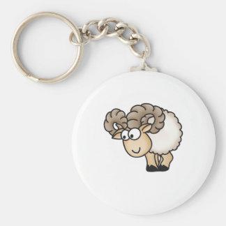 Willi the Ram - Aries - Male Sheep - Mouflon Keychain