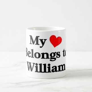 William a mon coeur tasse