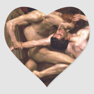 William-Adolphe_Bouguereau_(1825-1905)_-_Dan Heart Sticker