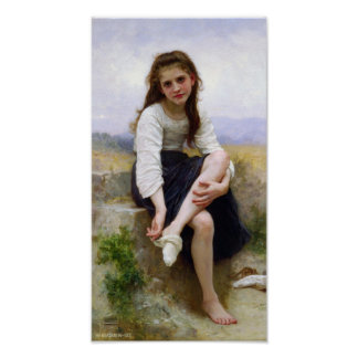 William-Adolphe Bouguereau-Before The Bath Poster