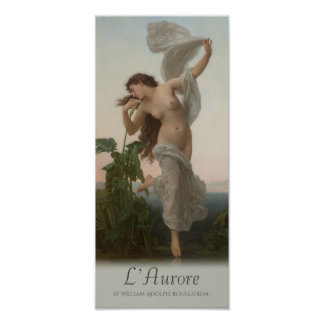William-Adolphe Bouguereau Dawn L'aurore Cardstock Poster