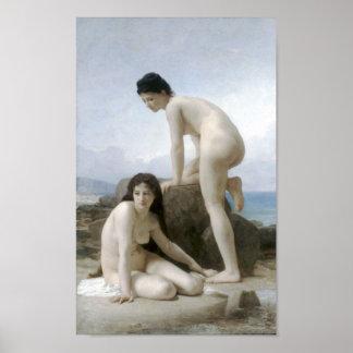 William-Adolphe Bouguereau-Les Deux Baigneuses Poster