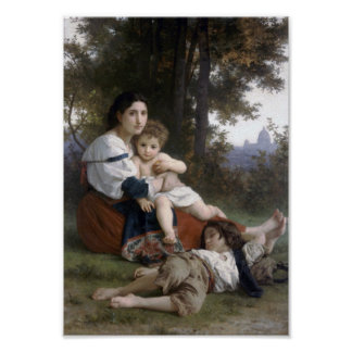 William-Adolphe Bouguereau-Rest Poster