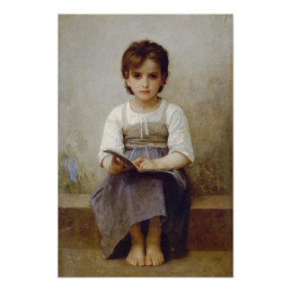 William-Adolphe Bouguereau-The Difficult Lesson Poster
