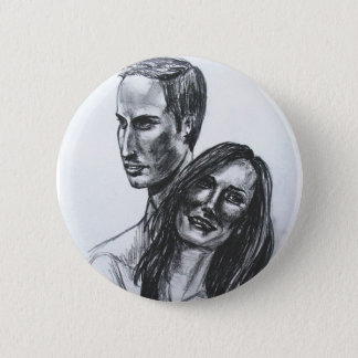 William and Catherine badge 2 Inch Round Button
