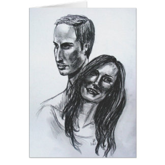 William and Kate Greeting Card