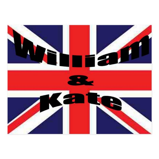 William and Kate Postcard