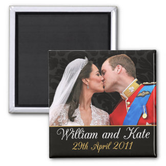 William and Kate the Royal Wedding Kiss Square Magnet