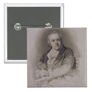 William Blake (1757-1827) engraved by Luigi Schiav 2 Inch Square Button