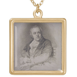 William Blake (1757-1827) engraved by Luigi Schiav Gold Plated Necklace