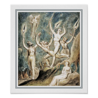 William Blake: Comus with His Revellers Poster