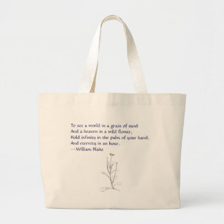 william blake & daisy large tote bag