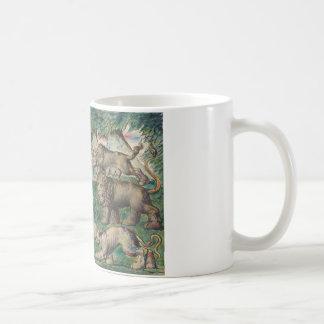 William Blake -Dante Running from the three Beasts Coffee Mug
