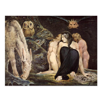 William Blake Hecate Postcard