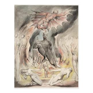 William Blake: Illustration Christ`s Nativity Postcard