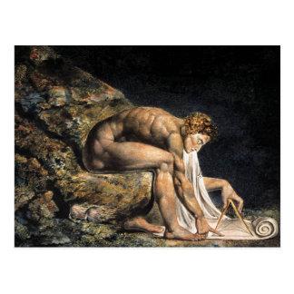 William Blake Isaac Newton Postcard