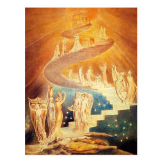 William Blake Jacob's Ladder Postcard