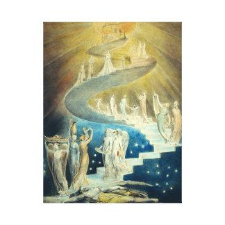 William Blake Jacob's Ladder Canvas Print