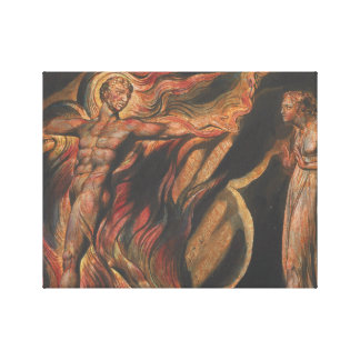 William Blake - Jerusalem, Plate 26, Such Visions Canvas Print