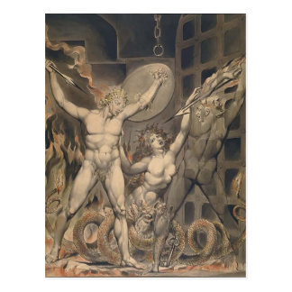 William Blake: Milton`s Paradise Lost Postcard