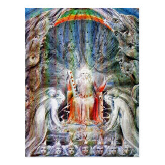 William Blake Postcard:  Before the Divine Throne Postcard