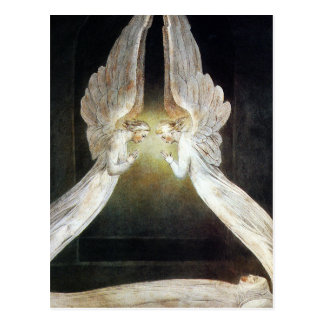 William Blake Postcard: Christ Guarded by Angels Postcard