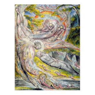 William Blake Postcard:  Mysterious Dream Postcard