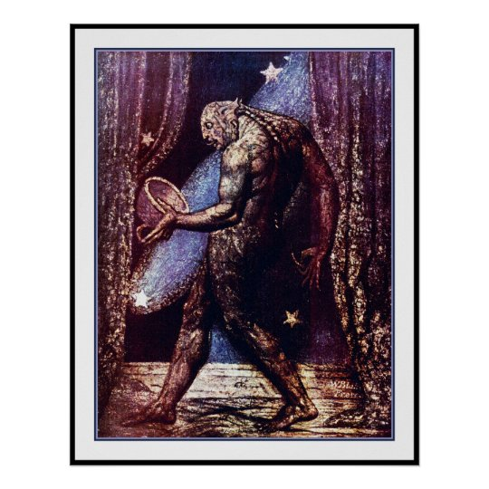 William Blake Poster: Ghost of a Flea Poster