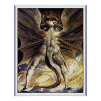 William Blake Poster Print: Great Red Dragon