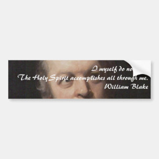 William Blake Quote Bumper Sticker