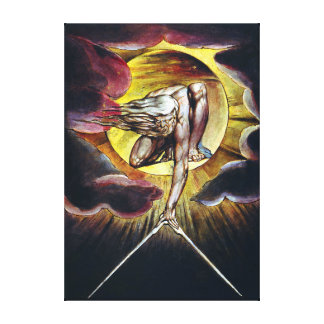 William Blake The Ancient of Days Painting Canvas Print