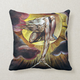 William Blake The Ancient of Days Painting Throw Pillow