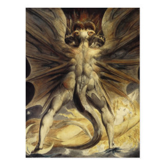 William Blake - The Great Red Dragon and the Woman Postcard