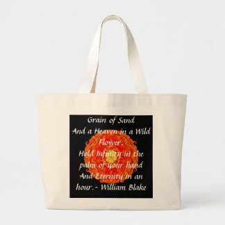 "William Blake ""World in a Grain of Sand"" quote Large Tote Bag"