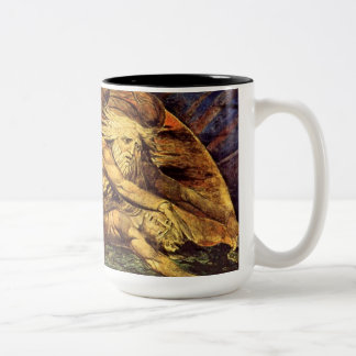 William Blake's Creation of Man (detail) Two-Tone Coffee Mug