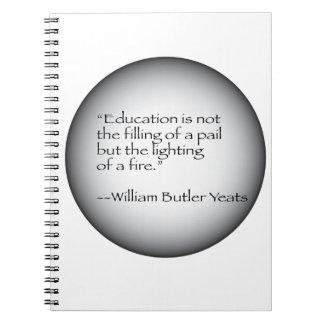 William Butler Yeats Quote Notebook