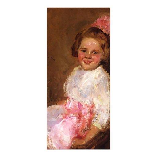 William Chase-Portrait of Helen,Daughter of Artist Custom Rack Cards