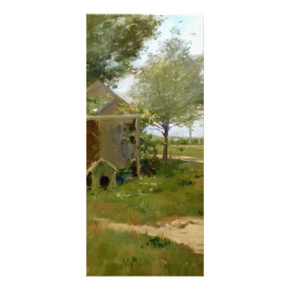 William Chase-The Back Yard,Shinnecock,Long Island Rack Card Design